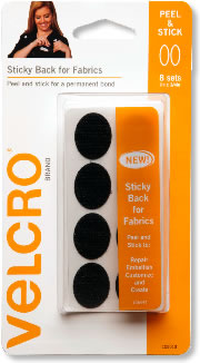 velcro brand stick on self adhesive strip of tape for fabric 19mm x 60cms ebay. Black Bedroom Furniture Sets. Home Design Ideas