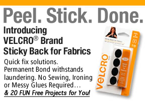 Velco Sticky Back for Fabrics