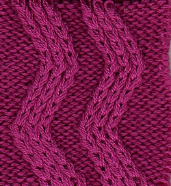 Knit Rick Rack Stitch In The Round : what is a racked stitch