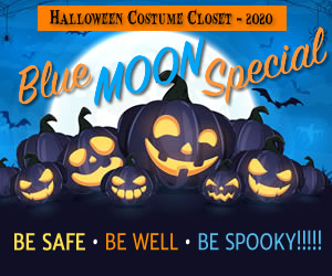Halloween Costume Closet 2020 - Blue Moon Special